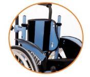 Алуминиева ергономична подложка за облегалка за активна количка Vermeiren САГИТА