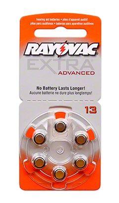 Батерии за слухови апарати RAYOVAC А13