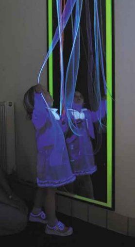 Огледален панел със светещи ленти