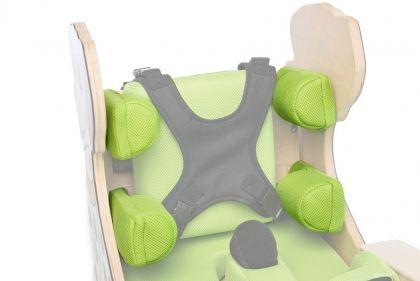 Опори за гърдите и ханша за терапевтичен стол за деца с увреждания ЗЕБРА