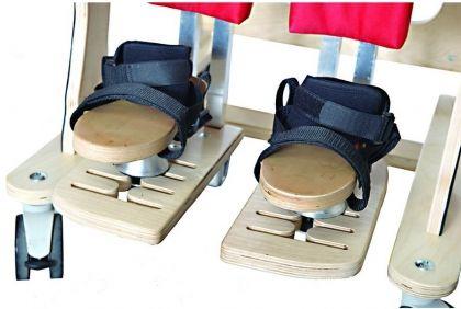 Триизмерни опори за ходилата за терапевтичен стол за деца с увреждания ЗЕБРА