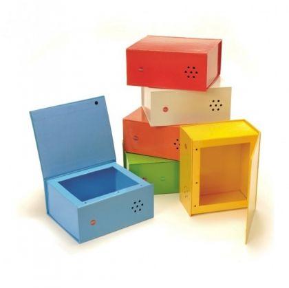 Цветни говорещи кутии