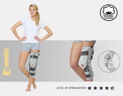 Ортеза за долен крайник с шини и допълнително подсигуряване EB-SKL/2RA