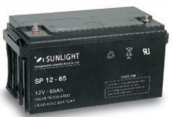 Акумулатор SUNLIGHT 12V/65Ah