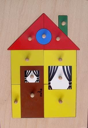 Дървена играчка Къщичка