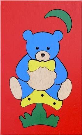 Детска дървена играчка Мече