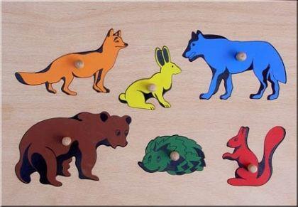 Дървена играчка Животните