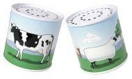Метални кутии с животни, произвеждащи шумове