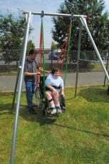 Система от колани за окачване на инвалидна количка