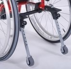 Колелца против преобръщане за инвалидна колчка
