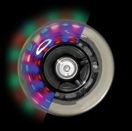 "Front 4"" wheels for wheelchair with LED lights"