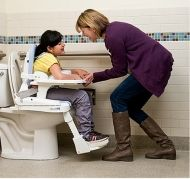 Table and armrest for universal toilet seat system Rifton HTS