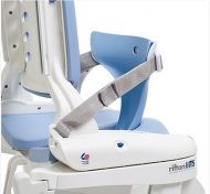 Deflector with splash guard for universal toileting seat system Rifton HTS