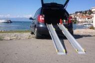 Алуминиеви телескопични рампи за инвалидна количка 152 см