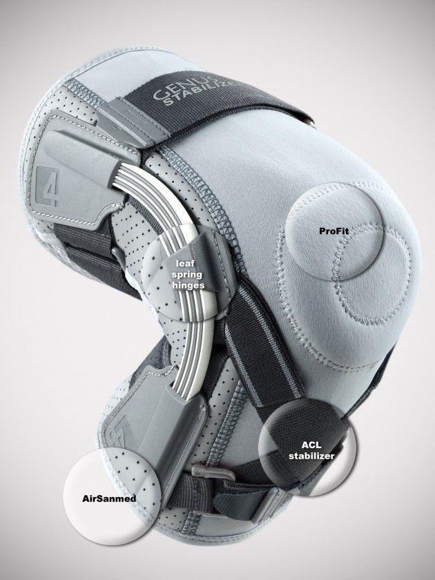 Колянна ортеза за ски с гъвкави шини и ортопедична поддръжка