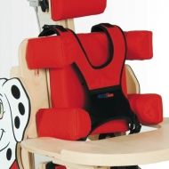 Individually adjustable chest and hip support for standing frame Dalmatian
